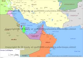 Map Of Bahrain Gulf Of Bahrain Maps The Gulf 2000 Project Sipa Columbia
