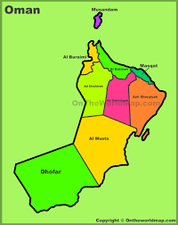 map of oman administrative divisions map of oman