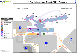 New York Airport Terminal Map by El Paso El Paso International Elp Airport Terminal Map