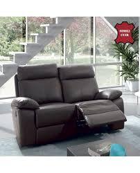revetement canapé canapé relax mécanisme manuel 2 ou 3 places cuir reconstitué