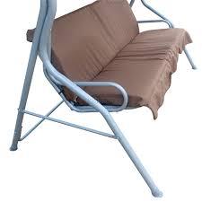 3 Seater Garden Swing Chair Foxhunter Brown Garden Metal Swing Hammock 3 Seater Chair Bench