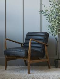 Leather Armchair Black Mid Century Leather Armchair At Rose U0026 Grey