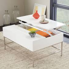 white end table with storage lacquer storage coffee table west elm
