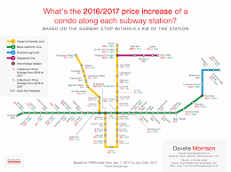 Ttc Subway Map by Map Shows How Much Toronto Condo Prices Have Gone Up By Ttc Stop