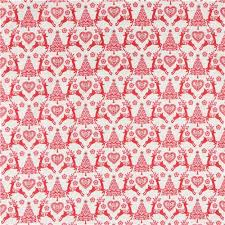 beige fabric with reindeer tree makower uk scandi 4