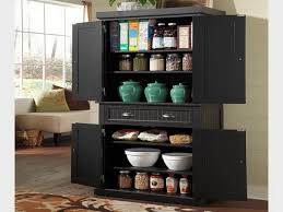 Kitchen Storage Furniture Pantry by Tall Black Kitchen Storage Cabinet Tehranway Decoration