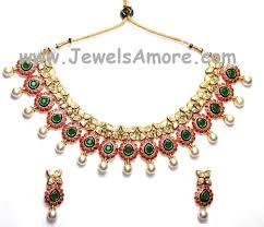 green stones necklace images Kundan meenakari jewelry necklace set with beautiful pink white jpg