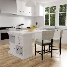 counter height kitchen island furniture of america cottage style antique white counter height