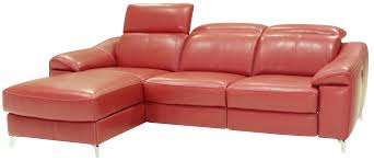 Pink Leather Chair by Sectional
