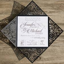 and black wedding invitations shop black and white wedding invitations online