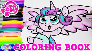 pony coloring book baby princess flurry heart episode