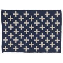 Navy And White Outdoor Rug Rugs Indoor Outdoor Rug Blue The Land Of Nod Navy Cross