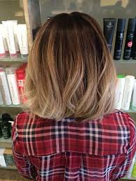 brown and blonde ombre with a line hair cut best 25 ombre short hair ideas on pinterest short ombre