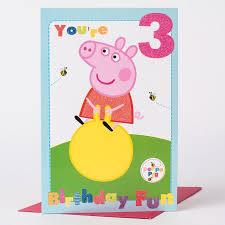 3rd birthday card peppa pig only 99p