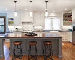 Wood Island Kitchen by Walnut Wood Autumn Raised Door Lighting For Kitchen Island