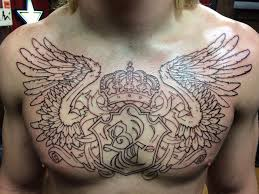got my chest started at someplace else tattoos in euless tx