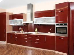 red gloss kitchen cabinet doors astounding contemporary design