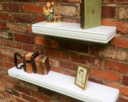 Decorative Wooden Shelf Edging Semi Gloss White Wall Shelf With Decorative Trim Extra Deep