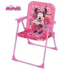 Minnie Mouse Armchair Disney Minnie Mouse Kids Pink Folding Camping Garden Bedroom