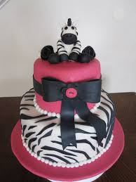 photo zebra stripe baby shower cakes image