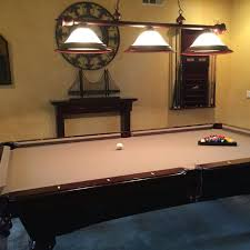 light over pool table find more price reduced must go this weekend pool table w bar