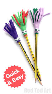 monster pencil toppers red ted art u0027s blog