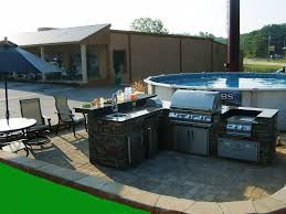 Backyard Designs With Pool And Outdoor Kitchen  Home Improvement - Backyard kitchen design