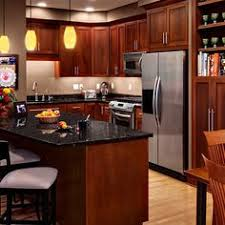 Dark Cherry Cabinets With Granite Counters Kitchen Plans - Pictures of kitchens with cherry cabinets