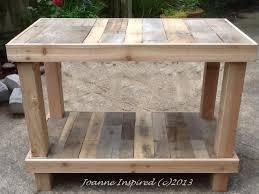 diy pallet work table pallet project kitchen island work table pallet projects