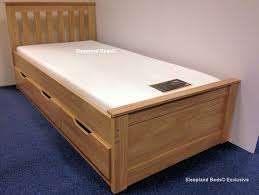 Single Beds For Adults Single Beds With Drawers Oak Almeria Single Bed With Storage