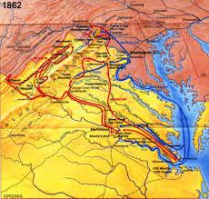 Map Of Richmond Va Virginia Civil War History Map Virginia Civil War Battles