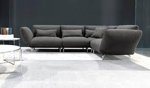 canapé d angle contemporain en tissu 4 places blues doimo