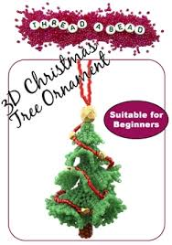 3d beaded christmas tree ornament kit by threadabead