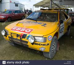 peugeot 405 t16 paris dakar rally car at the 2009 goodwood