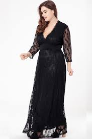 kettymore women plus size evening maxi gown dress black kettymore