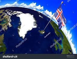 Iceland Map Location Iceland National Flag Marking Country Location Stock Illustration