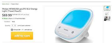 golite blu energy light home philips portable energy golite 75 reg 150 8 inch digital