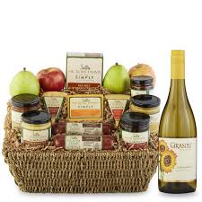 wine and cheese basket wine gift baskets wine gifts with food hickory farms