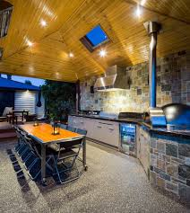 melbourne outdoor kitchen hoods patio contemporary with grill