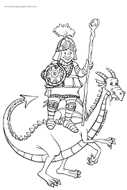 knight dragon color coloring pages dragons