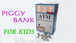diy how to make a atm piggy bank machine for kids very amazing