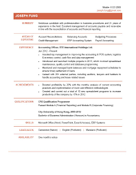 Sample Accountant Resume Resume Accountant Free Resume Example And Writing Download