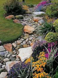 Drainage Ideas For Backyard Pebble And Rock River Bed For Garden Drainage Mac Pinterest