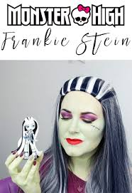 monster high frankie stein makeup tutorial fun duochrome makeup
