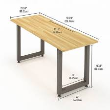 no tools assembly desk 60 butcher block durable and easy assembly with no tools