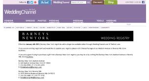 the wedding channel registry access checkout weddingchannel barneys new york bridal