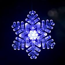 outdoor snowflake ornament design 2 size 6 blue white