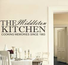 Personalised Family Kitchen Wall Art Sticker Any Name And Year - Design your own wall art stickers