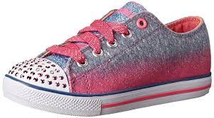 skechers womens light up shoes skechers twinkle toes chit chat light up lace up sneaker blue neon