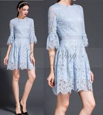 blue lace dress light blue lace dress in princess style vintage style
